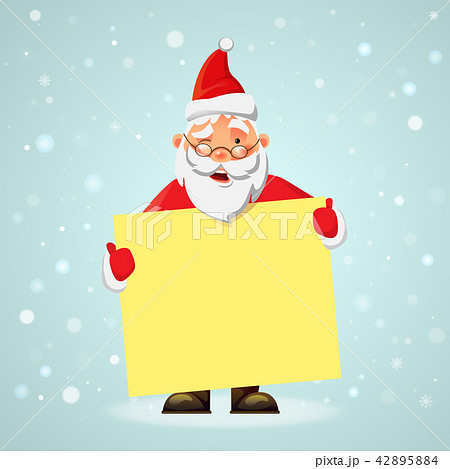 Santa Claus holding poster 42895884