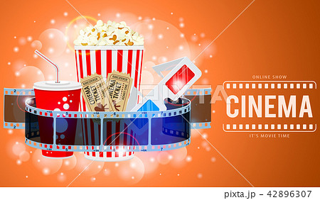 cinema and movie bannerのイラスト素材 42896307 pixta