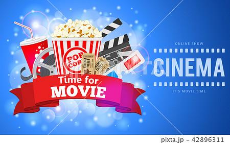 cinema and movie bannerのイラスト素材 42896311 pixta