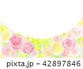 フレーム 水彩画 花のイラスト 42897846