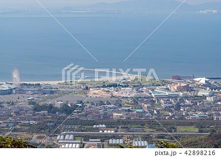 東海道新幹線と三河湾・ラグーナテンボス俯瞰撮影 42898216