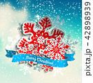 クリスマス ゆき 雪のイラスト 42898939
