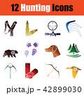 Hunting icon set 42899030