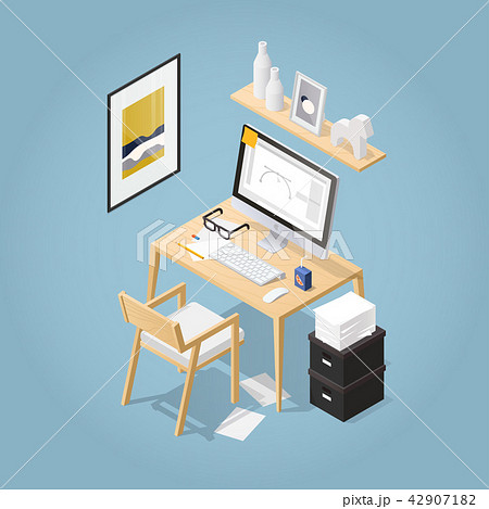 Isometric Home Office Concept 42907182