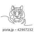 ベクトル 動物 タイガーのイラスト 42907232
