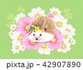 動物 かわいい キュートのイラスト 42907890