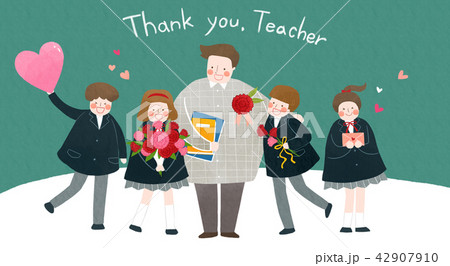 Vector - illustration for thanked the teachers and the parents for their hard work 002 42907910