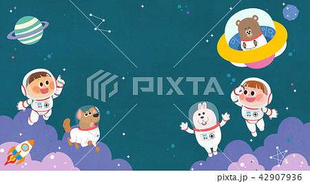 Vector - Children's dreams of a fairytale land, they living in a fairy story illustration 007 42907936