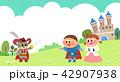 城 城郭 お城のイラスト 42907938