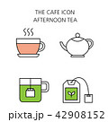 アイコン イコン コーヒーのイラスト 42908152
