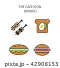 アイコン イコン カフェのイラスト 42908153