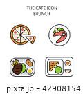 アイコン イコン カフェのイラスト 42908154