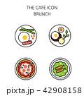 アイコン イコン カフェのイラスト 42908158