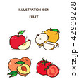 Vector - fruit and vegetable icon set for healthy food on white background 011 42908228