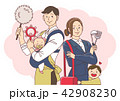 Vector - Illustration of the concept of life and work balance, super mom & business woman concept 003 42908230