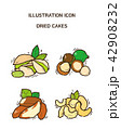 Vector - fruit and vegetable icon set for healthy food on white background 009 42908232