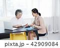 書類 PC ノートパソコンの写真 42909084