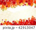 秋 紅葉 背景のイラスト 42913047