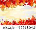 秋 紅葉 背景のイラスト 42913048