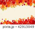 秋 紅葉 背景のイラスト 42913049