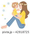 ベクター 赤ちゃん ママのイラスト 42918725