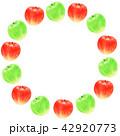 りんご 青林檎 フレームのイラスト 42920773
