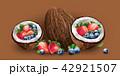 ココナツ いちご イチゴのイラスト 42921507