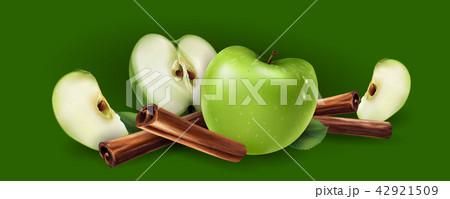 Cinnamon and green apples 42921509