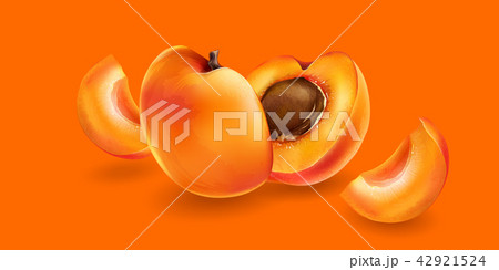 Apricot and slices 42921524