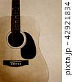 背景-紙-アコースティックギター 42921834