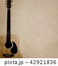 背景-紙-アコースティックギター 42921836
