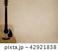 背景-紙-アコースティックギター 42921838