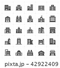 Icon set - Building filled icon style vector 42922409