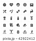 Icon set - Fitness filled icon style vector 42922412