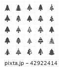 Icon set - Christmas tree filled icon vector  42922414