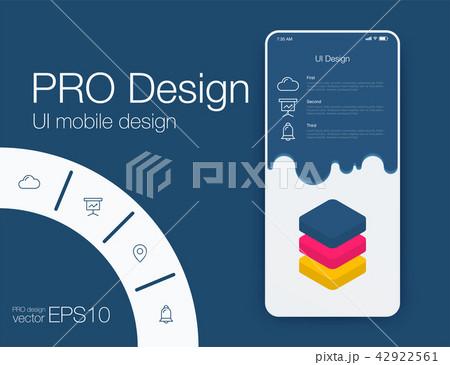 Date application UI design concept stock vector 42922561