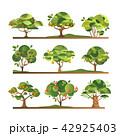 樹木 樹 ツリーのイラスト 42925403