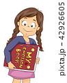 子供 少女 本のイラスト 42926605