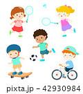 キッズ 子供 スポーツのイラスト 42930984