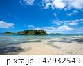 西表島 星砂の浜 海の写真 42932549