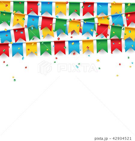 party celebration flag on white backgroundのイラスト素材 42934521