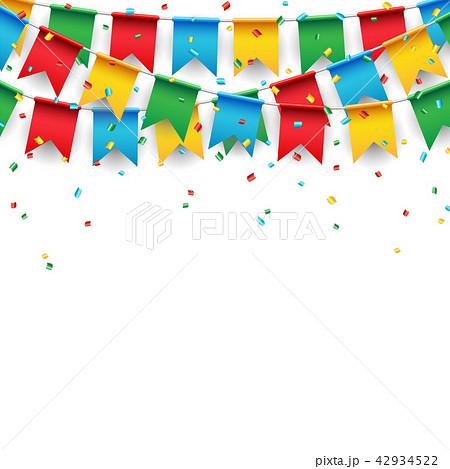 party celebration flag on white backgroundのイラスト素材 42934522