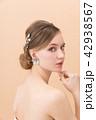 ブライダルビューティーショット 外国人女性 42938567
