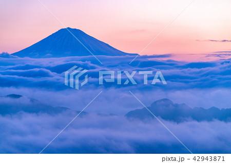 《静岡県》富士山と大雲海 42943871