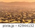 夕暮れ 夕景 散居村の写真 42944132