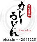 カレーうどん・Kare udon(筆文字・手書き) 42945225