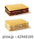 ワッフル クリーム チョコレートのイラスト 42948169