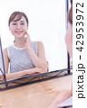 鏡 肌 スキンケアの写真 42953972