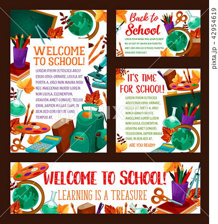 Back to School vector education banner poster 42954619
