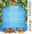 カレンダー 暦 テンプレートのイラスト 42954687